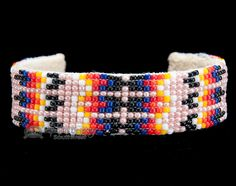 Native American Beaded Cuff Bracelet -Navajo (ij313) - Mission Del Rey Southwest