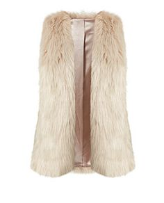 Stone (Stone ) Stone Faux Fur Gilet  | 321538016 | New Look