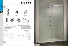 304 stainless steel shower door system factory[SLA003]