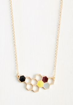 Pollen an All-Nighter Necklace. From morning brunch to a night out with the gals, this ModCloth-exclusive necklace assures youre always lookin chic! #gold #modcloth