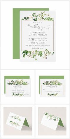 Botanical Dream Wedding Invitation Suite