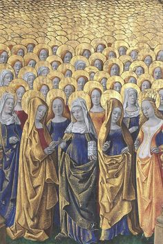 Female Saints from the Hours of Louis de Laval, France, ca. 1480