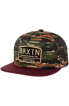 Brixton Hat Axle Snapback in Camo & Maroon Fashion Sale, Urban Fashion, Mens Fashion, Dope Hats, Brixton, Men's Accessories, Snapback Hats, Camo, Baseball Hats