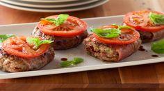 Prosciutto Lamb Burgers Recipe by Giada De Laurentiis : Food Network UK Lamb Burger Recipes, Best Burger Recipe, Hot Dog Recipes, Lamb Recipes, Other Recipes, Grilling Recipes, Cooking Recipes, Giada Recipes, Veal Recipes