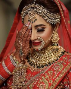 bridal jewelry for the radiant bride Pakistani Bridal Makeup, Indian Bridal Outfits, Indian Bridal Fashion, Indian Bridal Wear, Bridal Lehenga, Pakistani Jewelry, Bridal Mehndi, Wedding Outfits, Bridal Makeup Looks