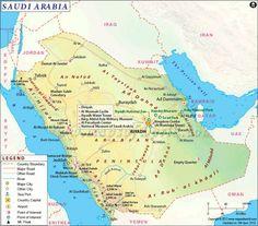 cool saudi arabia map