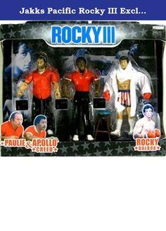 Jakks Pacific Rocky III Exclusive Rocky's Corner Clubber Lang Fight Action Figure 3-Pack Paulie, Apollo & Rocky. 1.