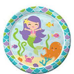 Mermaid Plates - Mermaid Party