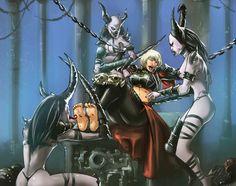 Pure Horror by Demonettes Warhammer 40k Memes, Warhammer Art, Warhammer 40000, Tickle Torture, Tickle Fight, Chaos Daemons, Dark Eldar, Overwatch Comic, Game Workshop
