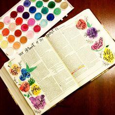 Bible Journaling by Alli Graham @alligraham_ | Galatians 5:22-23