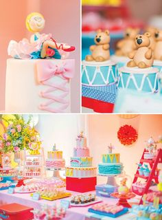 Girly+Big+Top+Circus+First+Birthday+Party