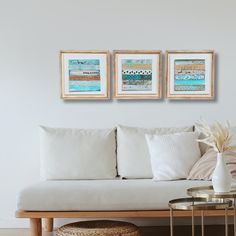 British Home, Modern Rustic Decor, Reclaimed Wood Wall Art, Square Art, Distressed Furniture, Original Art, Original Paintings, Triptych, Framed Art