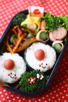 Kawaii Umeboshi Sushi Roll, Japanse Bento Lunch by 苺ママさん Cute Bento Boxes, Bento Box Lunch, Delicious Food, Tasty, Creative Food Art, Bento Recipes, Kawaii Shop, Sushi Rolls, Rice Bowls