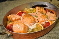 Slow Roasted Salmon with Fennel and Citrus