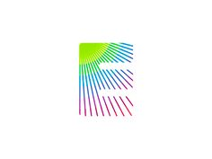 E for events colorful logo design symbol by alex tass