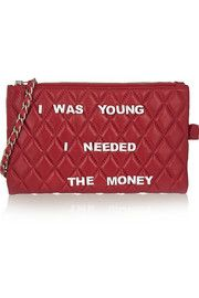 Finds+ Mua Mua embellished quilted leather clutch