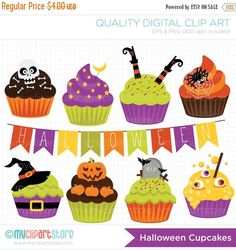 Find Cute Halloween Cupcakes stock images in HD and millions of other royalty-free stock photos, illustrations and vectors in the Shutterstock collection. Art Halloween, Scary Halloween Costumes, Halloween Cupcakes, Halloween Treats, Halloween Decorations, Halloween Clipart, Halloween Makeup, Scary Makeup, Halloween Parties