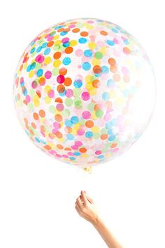 "Confetti Balloon / Jumbo Multicolor 36"" Balloon"