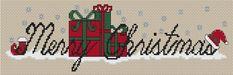 Free Cross Stitch Pattern - Merry Christmas!