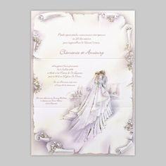 faire part de mariage parchemin style italien - Faire Part Mariage En Parchemin