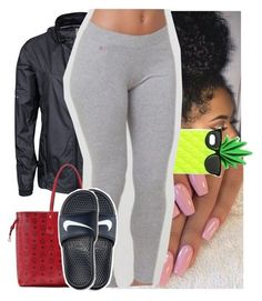 """."" by theyknowtyy ❤ liked on Polyvore featuring NIKE, MCM and Victoria's Secret PINK"