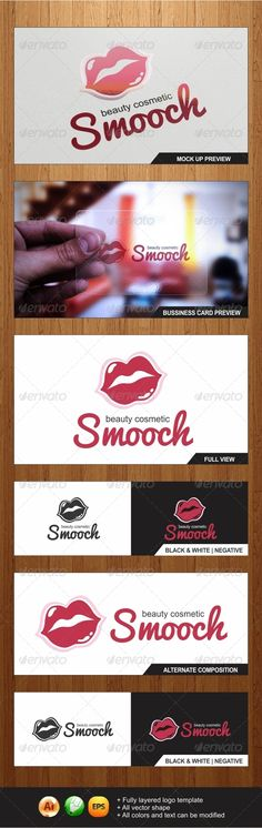 Smooch - Beauty Cosmetic logo template   Graphicriver