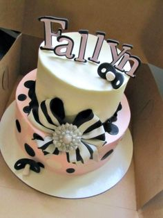 Girl baby shower cake! By JPMitchell on CakeCentral.com