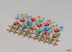 """Flower Garden """"K \""""Swirling Leaves Counted Cross Stitch Ready to Use\"""" # # # # # # # Cross Stitch Love, Cross Stitch Cards, Cross Stitch Borders, Cross Stitch Flowers, Cross Stitch Designs, Cross Stitching, Cross Stitch Embroidery, Hand Embroidery, Cross Stitch Patterns"""
