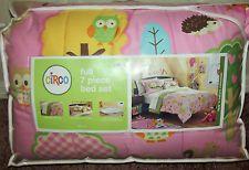 New Circo Love N Nature 7 Pc Comforter Bed Set in Bag Owl Hedgehog FULL Size