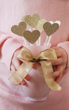 corações brilhantes
