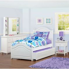 Brooke 3 Piece Twin Trundle Bedroom Set Household