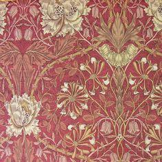 William Morris Honeysuckle and Tulip Linen Print William Morris Wallpaper, William Morris Art, Morris Wallpapers, Textile Design, Design Art, Motifs Art Nouveau, William Morris Patterns, Edward Burne Jones, Art Chinois
