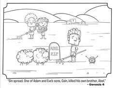 Cain and Abel Coloring Page Inspirational Cain and Abel Bible Coloring Pages Hulk Coloring Pages, Ninjago Coloring Pages, Bible Coloring Pages, Cain Y Abel, Daniel And The Lions, Sunday School Coloring Pages, Bible Study For Kids, Kids Bible, Coloring Pages Inspirational