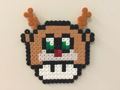 Rudolf the rednosed reindeer - Christmas mushroom perler beads by Bjrnbr - Björn Börjessonr