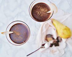 Mousse+pere+speziate+e+cioccolato+(senza+glutine,+senza+lattosio,+senza+uova)