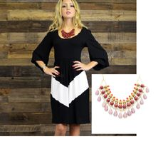The Aspen Breeze Dress (amazingglace.com) is a bold statement. It requires bold accessories for balance. The Serena Necklace fits the bill. $48 http://journeyaccessories.kitsylane.com