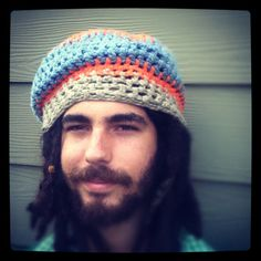 Crochet Tam Hat Slouchy Organic Cotton Beanie by ReGrowRoots, $25.00