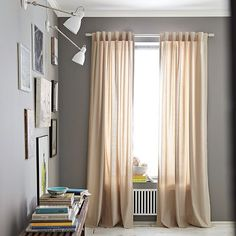 gray living room colors, new bedroom, bedroom walls, curtains for grey bedroom, room colors for grey hallway, paint colors, curtains on gray walls, perfect gray paint, grey bedroom paint