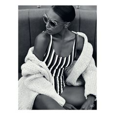 High Seas Style Jasmine Tookes Gets Nautical for ELLE UK ❤ liked on Polyvore featuring people