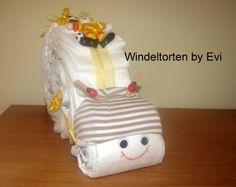 Windelschnecke 'Kleiner Fußballer', Windeltorte! von Windeltorten By Evi auf DaWanda.com