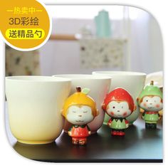 2017 Festival Gift Ceramic Coffee Milk Tea Mug 3D Animal Shape Hand Painted  Monkey Fruit Cup #Affiliate