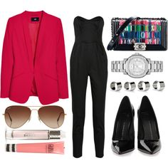 Untitled #222 by ivannadba on Polyvore featuring moda, H&M, Milly, Giuseppe Zanotti, Burberry, Maison Margiela, Rayban, Topshop and Chanel