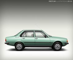1981 - RENAULT 18 TS - firstcar illustrations