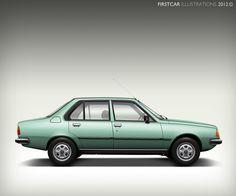 1981 - RENAULT 18 TS - firstcar illustrations