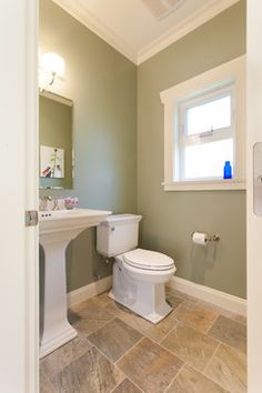 Meandering Serenity - Custom Home - craftsman - powder room - vancouver - by Kenorah Construction & Design Ltd paint is BM High Park eggshell Mold In Bathroom, Steam Showers Bathroom, Bathroom Storage, Bathrooms, Vancouver, Small Bathroom Renovations, Bathroom Ideas, Bathroom Design Inspiration, Construction Design