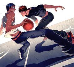Kuroko no Basket ~~ Aomine Daiki x Kagami Taiga