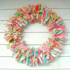 DIY Door Wreath Ideas Rag Wreath Design Ideas Festive Decorations
