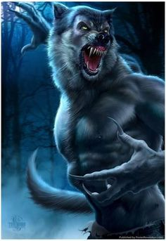 Artwork: werewolf by fantasy artist Tom Wood. See more artwork by this featured artist on the fantasy gallery website. Dark Fantasy, The Beast, Fantasy Kunst, Fantasy Art, Beasts Of England, Art Noir, Werewolf Art, Werewolf Teeth, Vampires And Werewolves