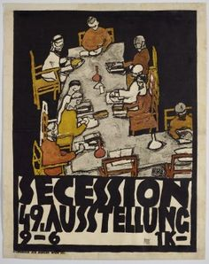 """ Exhibition of the Vienna Secession (Secession Ausstellung) Egon Schiele (Austrian, Lithographed poster. This poster for the last Secessionist exhibition. Sale Artwork, Egon Schiele, Fine Art, Painting, Exhibition Poster, Art, Art Movement, Fine Art Prints, Vienna Secession"