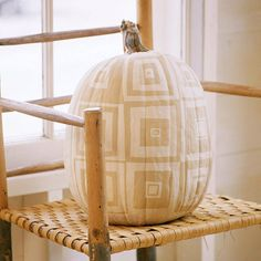 It's super easy to create this eyecatching design on your pumpkin! Simply download our painted patchwork pattern here: http://www.bhg.com/halloween/pumpkin-decorating/painted-pumpkin-ideas/?socsrc=bhgpin091613paintedpumpkin#page=9